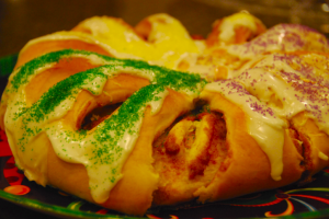 Celebrate Mardi Gras with this delicious (and nut free) king cake!
