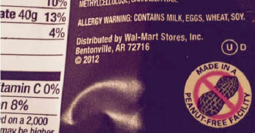 Always happy to see this kind of allergy warning on chocolate.